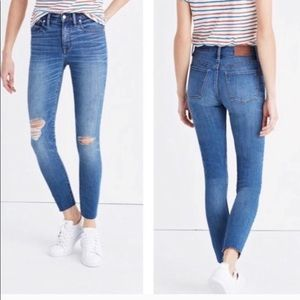 """9"""" high-rise skinny crop Madewell jeans"""